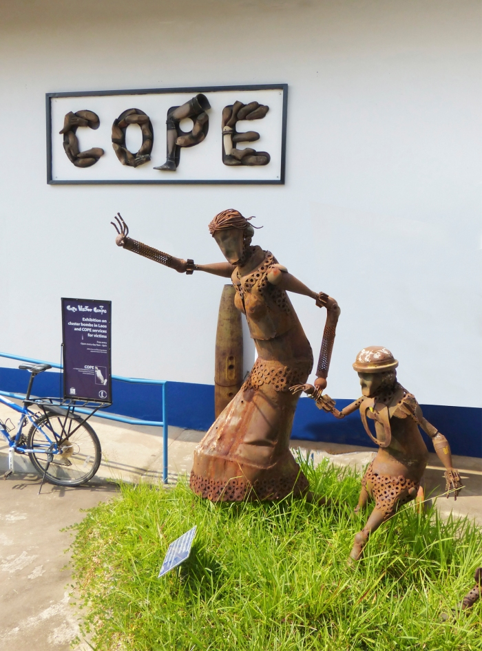 Sculpture made of UXO at Cope Entrance