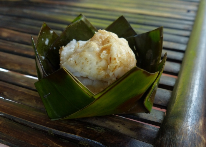 Khao nom kook, coconut and rice dessert