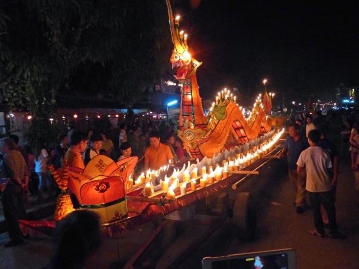 Dragon boat in parade