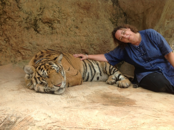 Claire and her favorite tiger