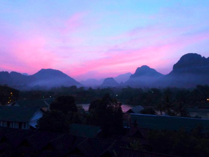 Sunset Vang Vieng