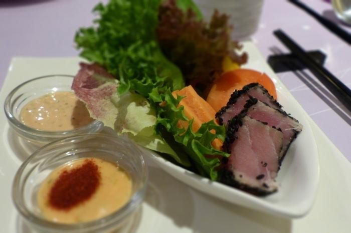 Tuna with Safron Sauce