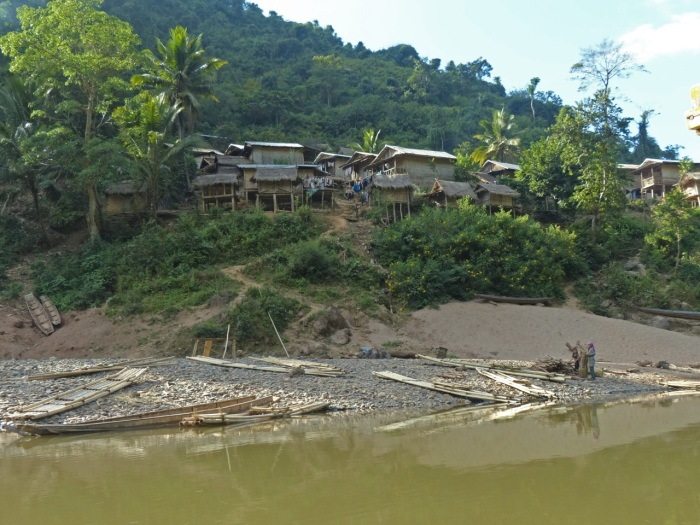 Remote Village on the river bank