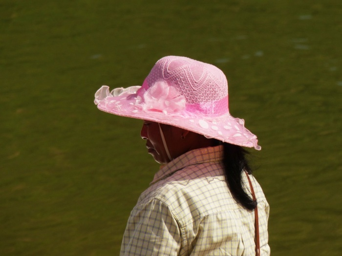 Woman in fancy hat