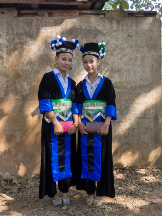 2 Girls in very authentic costumes
