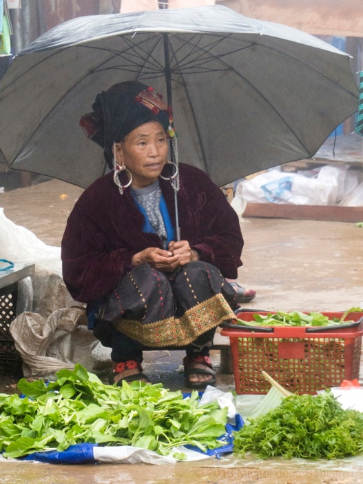 Akha Woman selling at the market