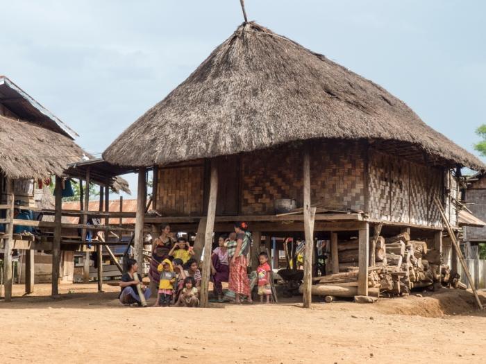 Typical Katu hut in Ban Kandon