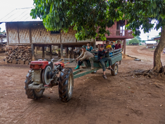 Katu family returning from a day in the fields