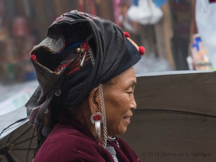 Profile of same Akha woman