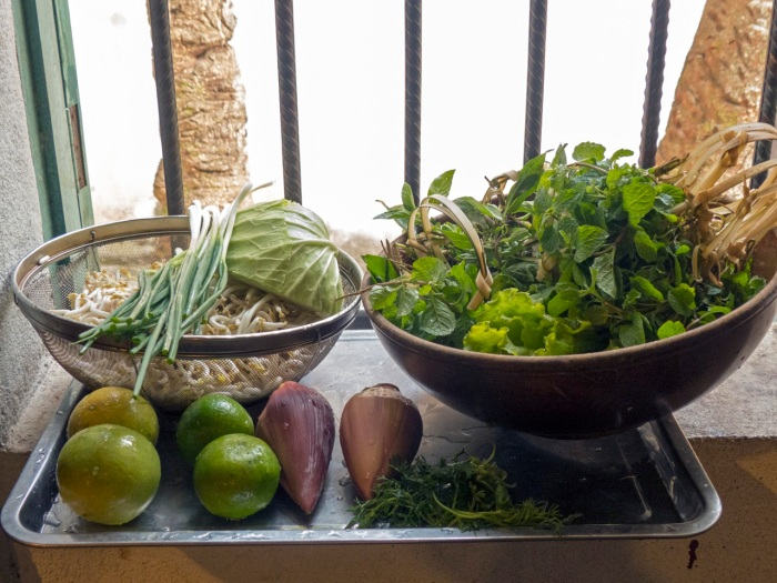 Herbs and Fresh veggies to add to soup