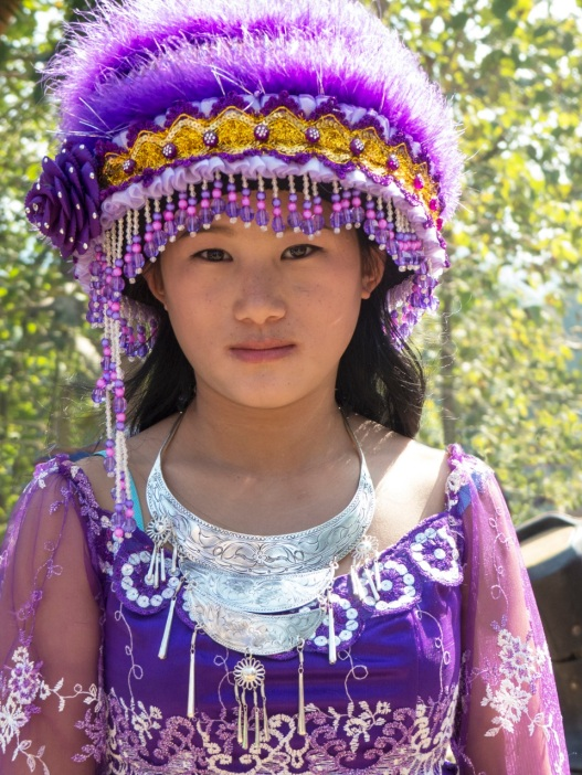 Young Girl in Hmong costume