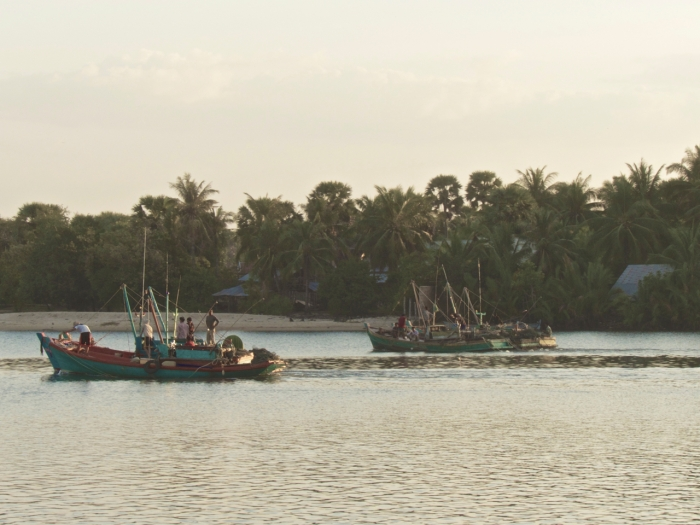 Fishing Boats on the Kampot River