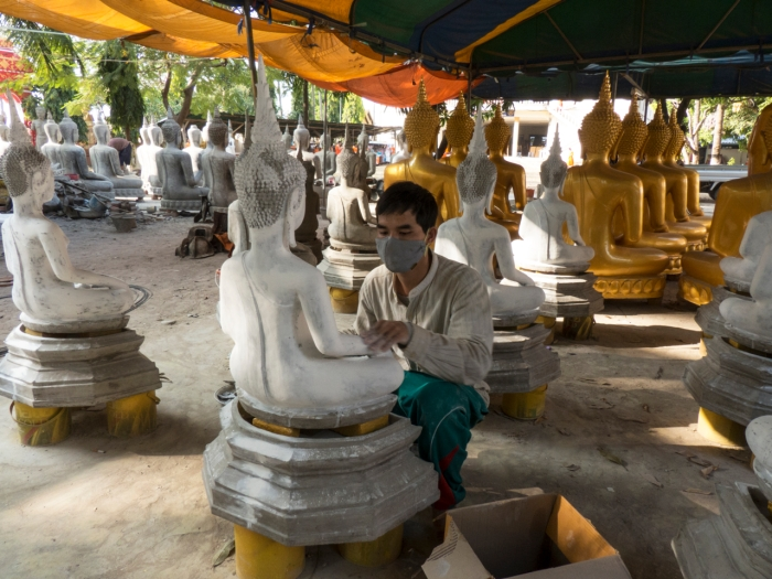 Golden Buddah's must be manufactured too - Savannakhet