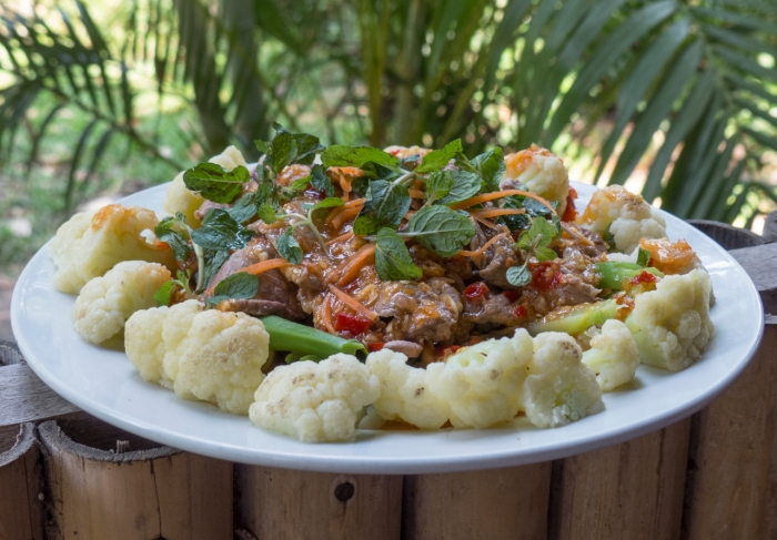 Koh Kong style Beef and crying Cauliflower