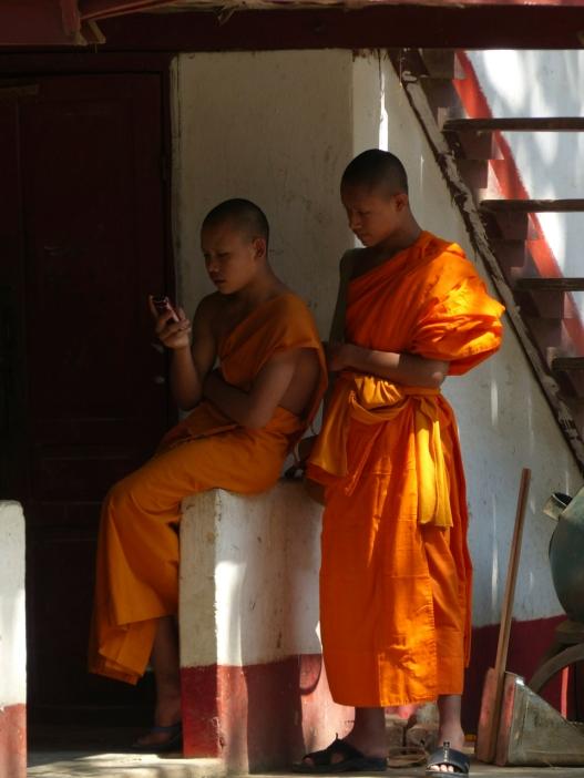 Calling Buddah in Luang Prabang