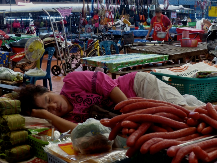 Dreaming away at the local market