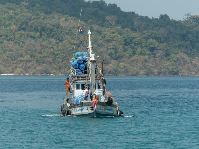 Working fishing boat
