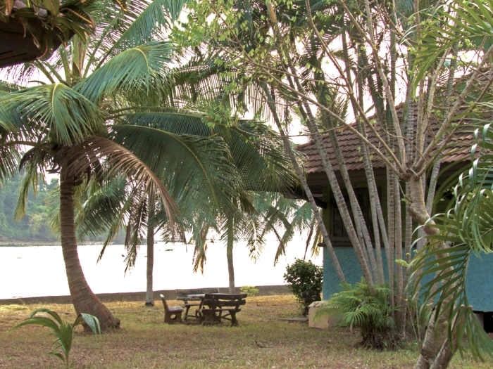 View of the bay from the bungalows