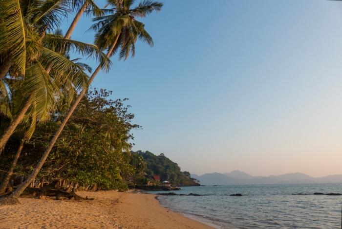 Small beach near Trat where Claire spent the night alone