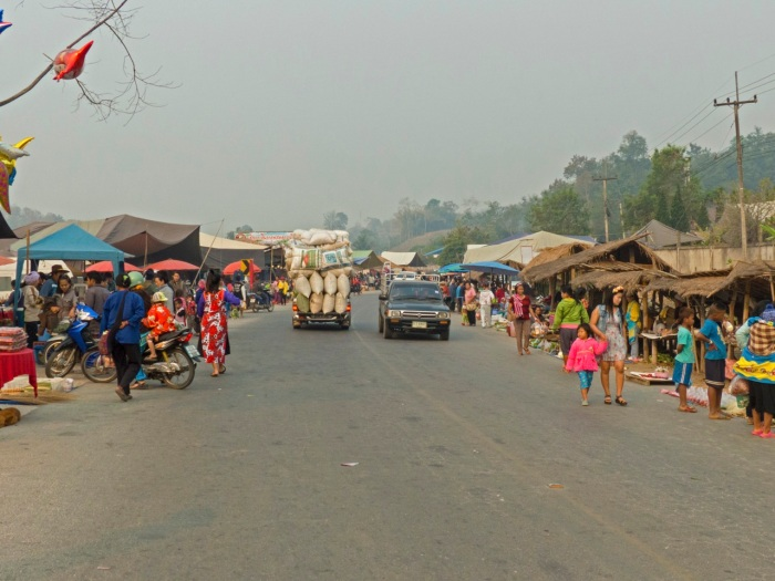 Tuesday Market on the main road