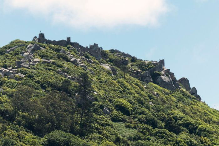 Castle walls above Sintra