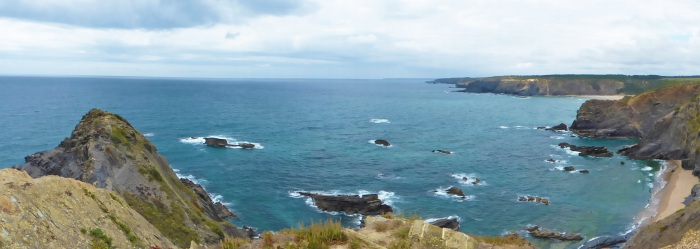 Panoramic of another beautiful beach near Rogil