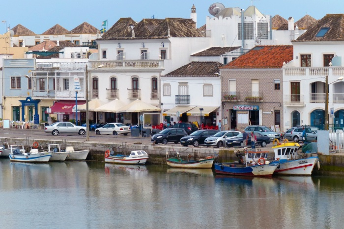 View from our hotel balcony in Tavira