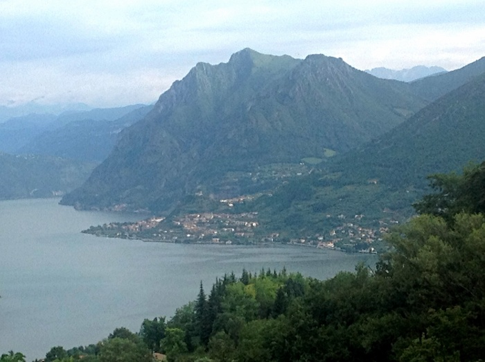 Beautiful Lake Iseo in Italy