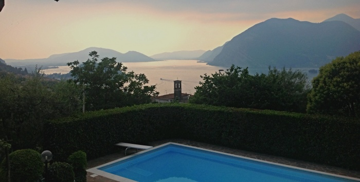 View from our balcony overlooking Lake Iseo