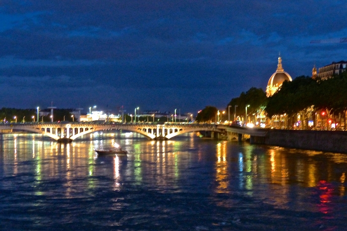 Beautiful Lyon at Night