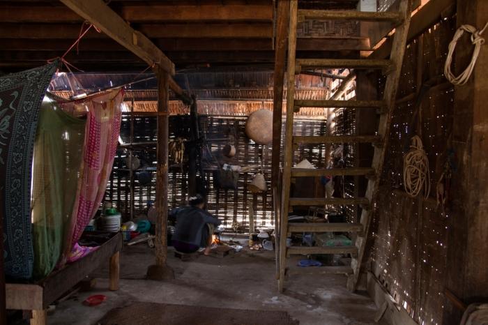 Inside Yan's house - we sleep upstairs