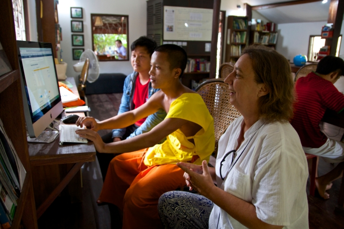 Claire teaching in Luang Prabang