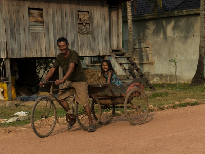 Cambodia - Father and Daughter near Kampot