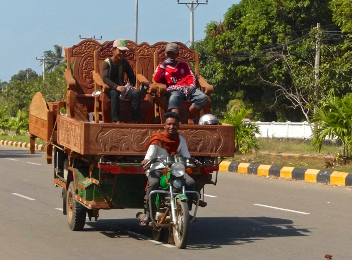 Cambodia - Moving furniture near Kampot