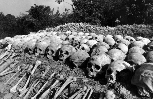 The killing fields outside Phnom Penh - estimated 2,000,000 people murdered