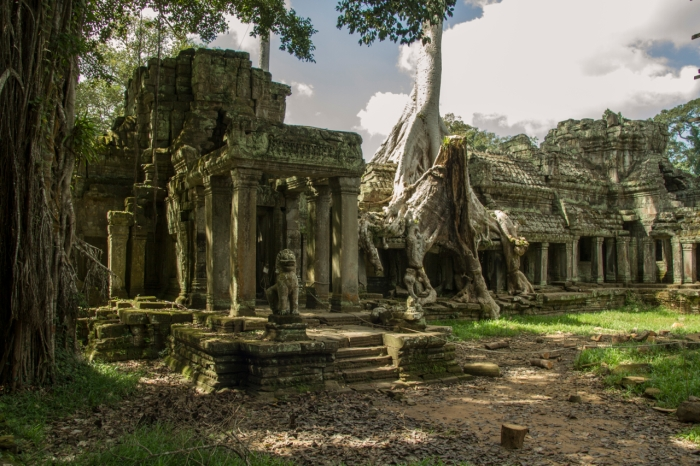 Preah Kahn a beautiful temple overrun by the jungle
